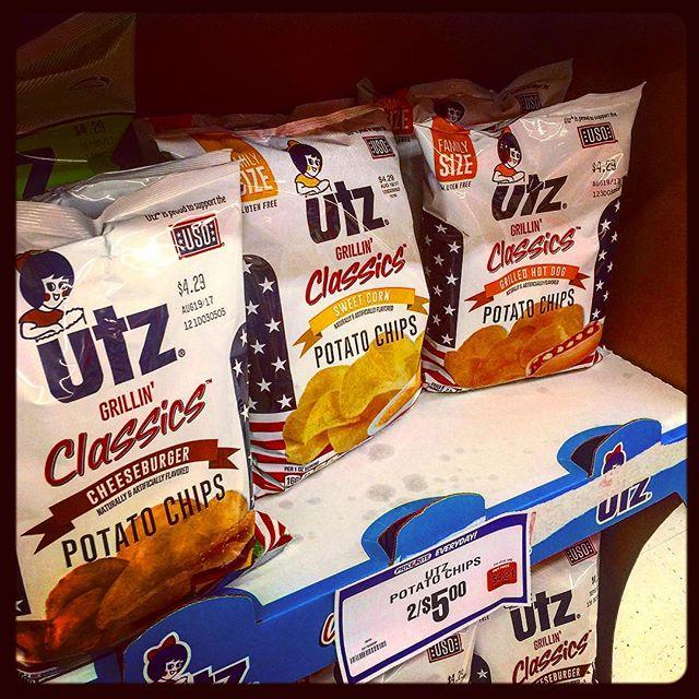 Funky #utzpotatochips #utz flavors